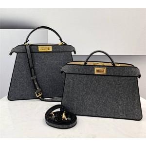 fendi PEEKABOO I SEEU flannel organ handbag 8BN323/8BN321