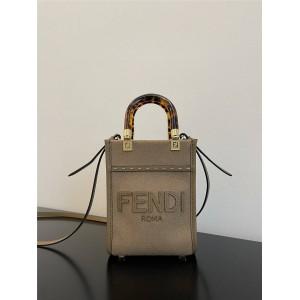 FENDI Flannel Sunshine Mini Tote Bag Handbag 8BS051