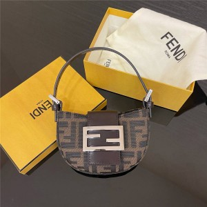 FENDI new middle and ancient flower ingot bag