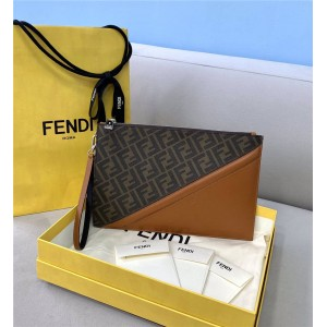 FENDI FF pattern men's thin clutch 7N0110