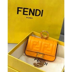 FENDI orange NANO BAGUETTE charm bag decoration 7AR844