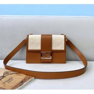 FENDI BAGUETTE Flat Handbag Messenger Bag 7VA524