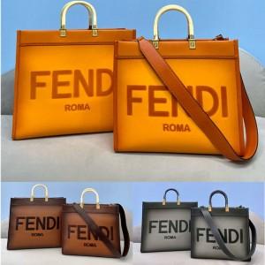 fendi Sunshine gradient leather shopping bag 8BH386/8BH372