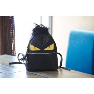 fendi a pinch of hairy Bag Bugs eye monster nylon backpack