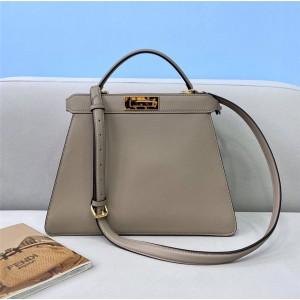 Fendi PEEKABOO ISEEU Handbag Pigeon Grey 8BN327