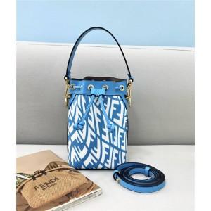 Fendi glazed canvas Mon Tresor small bucket bag 8BS010