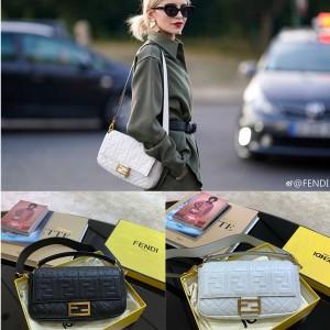 FENDI Iconic Baguette Handbag Medium Female Bag 8BR600