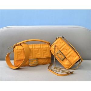 FENDI FF leather BAGUETTE handbag 8BS017/8BR600