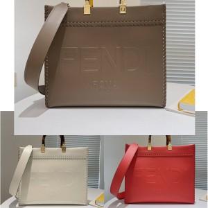 fendi Sunshine medium woven leather shopping bag 8BH386