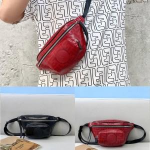 fendi men's logo FF pattern glazed waist bag chest bag 7VA446