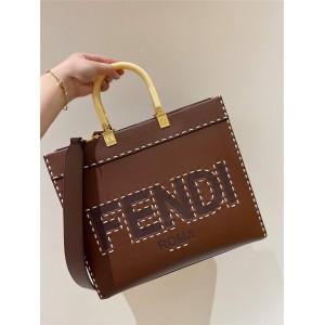 fendi Sunshine medium outer stitched leather shopping bag 8BH386