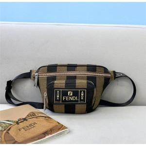 fendi men's Pequin striped pattern canvas small waist bag chest bag 7VA446