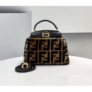 fendi women's PEEKABOO ICONIC wool handbag