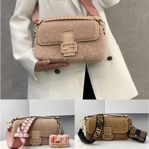 fendi wool BAGUETTE medium handbag 8BR600