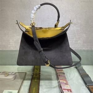 Fendi suede PEEKABOO ISEEU medium handbag 8BN321