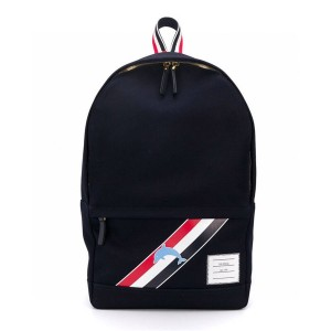 THOM BROWNE TB Striped Dolphin Print Men's Nylon Backpack