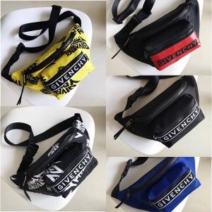 Givenchy new men's nylon LOGO printed waist bag chest bag