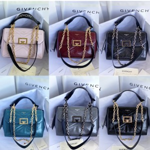 Givenchy official website new pleated leather small ID handbag