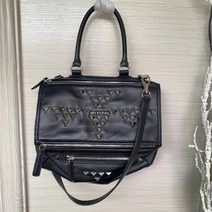 Givenchy triangle rivet sheepskin Pandora messenger bag