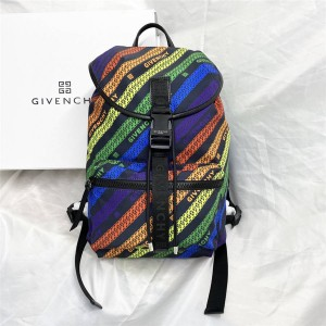 Givenchy official website men's CHAÎNE color backpack