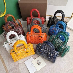 goyard official website new mini mini Boston pillow bag