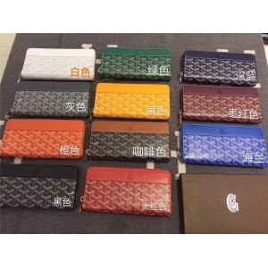 goyard official website new unisex long zipper wallet