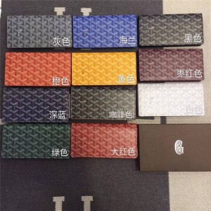 Goyard official website men's long wallet two fold suit wallet