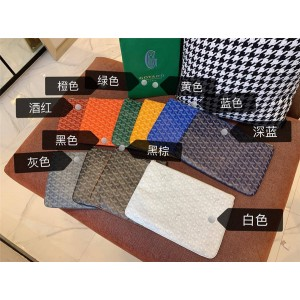 Goyard official website new PVC zipper clutch