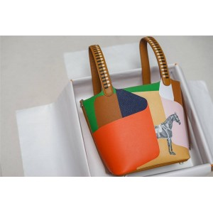 hermes new graffiti stitching horse to success picotin vegetable basket bag