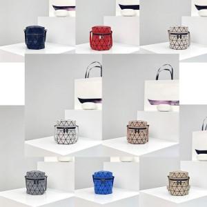 Issey Miyake new crystal diamond bucket bag messenger bag