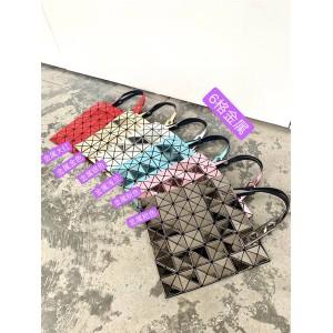 ISSEY MIYAKE new 6 grid metallic mirror geometric rhombus bag