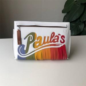 LOEWE official website new bar tassel letter T pouch clutch