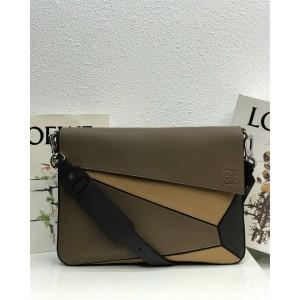 loewe new men's geometric stitching Puzzle messenger bag
