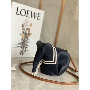 Loewe official website new navy style mini Elephant handbag