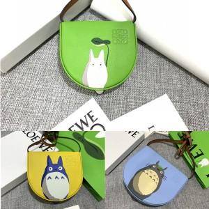 LOEWE My Neighbor Totoro and Rabbit Print Heel Handbag Waist Bag