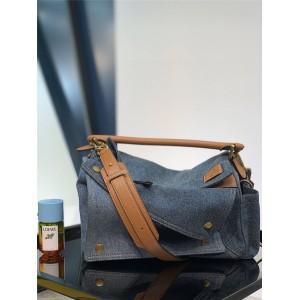 LOEWE official website new denim medium puzzle handbag