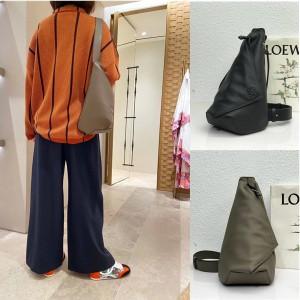 LOEWE Soft Grained Calfskin Anton Sling Handbag Chest Bag