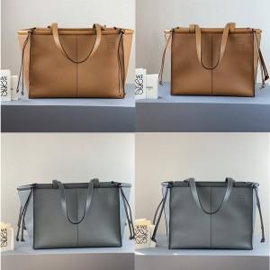 Loewe women's bag leather Cushion Tote shopping bag