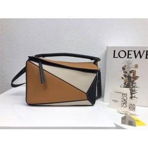 LOEWE new female bag geometric stitching Puzzle handbag