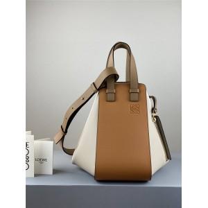 Loewe new small leather color-blocking Hammock handbag