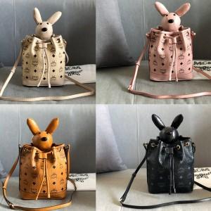 mcm new rabbit zoo series Visetos bucket bag