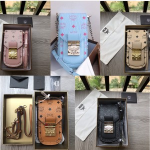mcm official website Patricia Visetos mini mobile phone bag