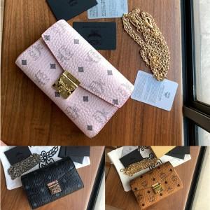 mcm official website small Millie Visetos crossbody bag