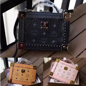 MCM New Berlin Visetos Crossbody Bag Rivet Box Bag