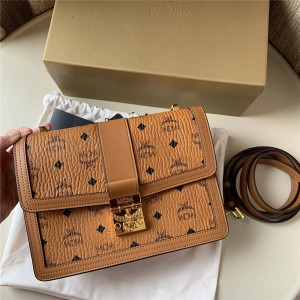 mcm official website new female bag tracy visetos messenger bag