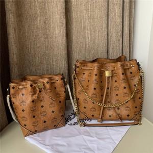 mcm handbag Soft Berlin Visetos drawstring bucket bag