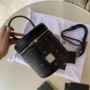 mcm new Visetos cylindrical messenger bag cosmetic bag