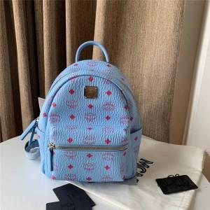 mcm New Stark Visetos Backpack Windbell Blue