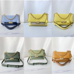 Michael Kors mk new colorblock Cece medium leather chain shoulder bag