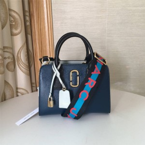 Marc Jacobs MJ Handbag Colorblock Logo Strap Little Big Shot Tote